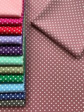 100% cotton fabric rose dusky pink polka dot spot sewing patchwork MORE COLOURS