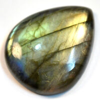 Cts. 43.95 Natural  Labradorite Multi Fire Cabochon Pear Cab Loose Gemstone
