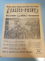 rare Calico Print Newspaper Vol VIII-No 4 April 1952 Western History-Legends