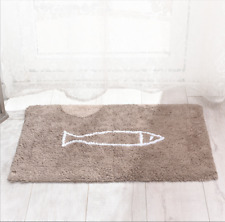 Fish Rug Mat Bath Rug Cotton Bathroom Modern 45x70cm Homeware Bathmat Room