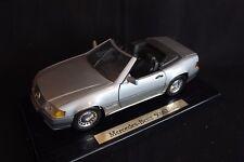 Bauer Master Toy Mercedes-Benz 500 SL 1989 1:18 silver (JvM)