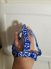 Top Paw Dog Step In Harness Small Girth 12-20 inches NWT S Blue with white bones