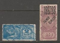 Uruguay fiscal revenue stamp 5-19-20-87