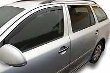 DSK28318 Skoda Octavia Mk2 Estate 2004- 2012 wind deflectors 4pc set TINTED HEKO