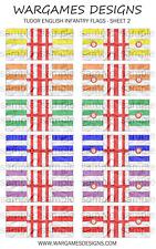 Bandiere 15 mm-FANTERIA INGLESE TUDOR-FOGLIO 2-LUCCIO & SHOTTE, Barocco, DBR