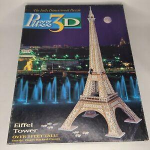 Puzz 3D Eiffel Tower Puzzle 703 Foam Backed Pcs Sealed Milton Bradley 1995