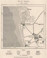 Adelaide. Australia 1885 old antique vintage map plan chart