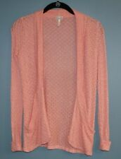 Kirra Cardigan Sweater Open Front Peach Womens Size XS