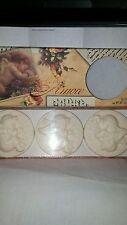Italian Set 3 Artisanal Angel Cherub  Round Soap Bars NIB FREE SHIP lovely gift