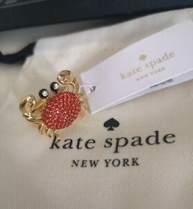 Kate Spade New York Shore Thing Pave Crab Ring Size 7