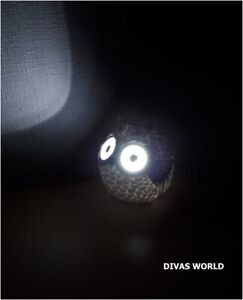 Owl Shaped LED Light Up Eyes Solar Powered Outdoor Garden Home Decoration Gift