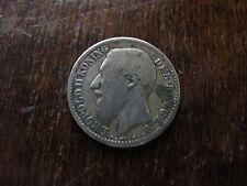 1 franc Belgique 1886 pièce de monnaie Leopold II roi