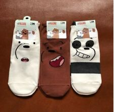 Korean Socks - We Bare Bears Full Face- Iconic Socks