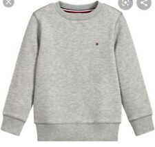 Tommy Hilfiger Boys Grey Basic Sweatshirt ** Age 6 years old *** NEW WITH TAGS