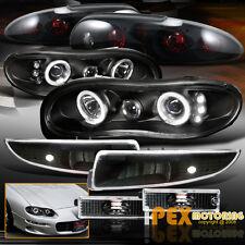 CHEVY Camaro Halos Projector LED Black Headlights+Signals+ Dark Smoke Tail Light