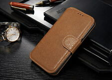 For Samsung Galaxy S7 Edge  Case Wallet Card Holder Flip Cover Stand - Brown