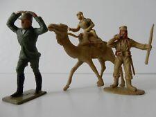 2 PLASTIC FOREIGN LEGION LEGIONNAIRES CHERILEA CAMEL FIGURE NO GUN + GERMAN
