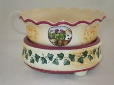 Candle/Tart Warmer (2-Piece ELECTRIC) Scalloped GARDEN IVY
