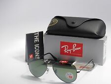 Ray Ban Aviator RB3025 004/58 Gun Metal Polarized Green Lens 58mm