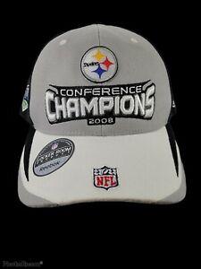 2008 Pittsburgh Steelers Conference Champion Licensed NFL Reebok StrapBack Hat