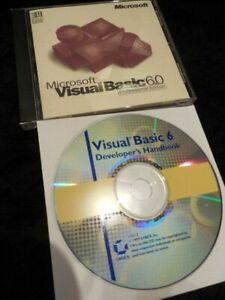 Microsoft Visual Basic 6.0 6 Professional + CD Manual = works in Windows 10