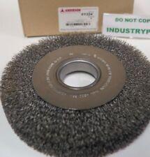 """01324 8"""" Anderson WIDE Crimped Steel Wire Wheel Brush 2"""" A.H. DA8 .014 Medium"""