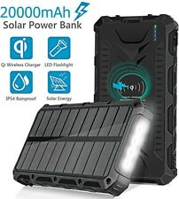 Solar Power Bank 20000mAh Universal Battery Charger with LED Flashlight