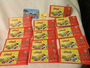 SET OF 13 7 ELEVEN 3D SNOOPY CARDS IN SEALED PACKS - CHINESE WRITING - HTF