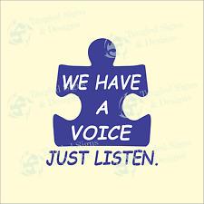 Autism awareness vinyl sticker vinyl Window decal