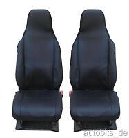 2x Sitzbezüge Schonbezüge Einteilig Schwarz für Citroen Peugeot Renault Seat