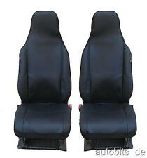 2 x Seat sitzbezüge Seat Covers One-Piece Black Quality Polyester for