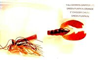 Swimming Green Pumpkin Orange Chigger Chunk Gripper 1/4-oz. Jig Fishing Lure