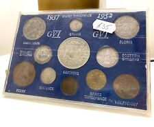 More details for 1937-1952 king george vi threepences great britain british coin collection