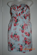 Guess size 5 juniors floral blue tube top dress NWT