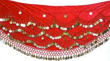 Velvet Belly Dance Hip Wrap Scarf Skirt Belt Dancing Costume UK 8 - 14  OFFER