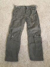 AERONAUTICA MILITARE Mens Multipocket Green Cargo Trousers Pants EU size 48