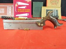 """R. Groves & Sons 9"""" Dovetail Saw, 16 PPI Rip Cut, 1830's, Cuts Well"""