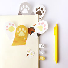 Nice Cartoon Meow Kitty Cat Paw Prints Memo Pad Sticky Note Page Marker Planner