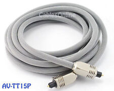 15ft. Premium Toslink Digital Audio Optical Cable/ Cord