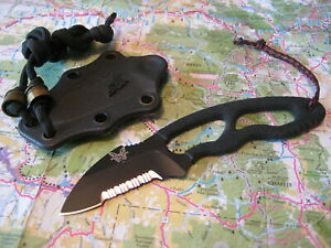 Benchmade 160sbk Tether Neck Rescue River EDC Knife 440C w Kydex Snap in Sheath