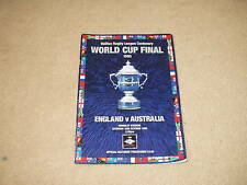 1995 England v Australia World Cup Final Rugby League Program