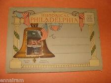 Vtg Souvenir Folder Historical Philadelphia Pa strip mailer 18 views fold-out PC