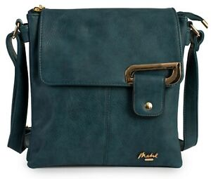 Womens Messenger Cross Body Multiple Pockets Shoulder Handbag Purse Bag - Faith