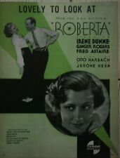 ROBERTA/ 1935/  PARTITION ORIGINALE/ FRED ASTAIRE/ GINGER ROGERS/ MUSICAL