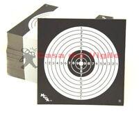 Bersaglio 100 pezzi cartoncino nero 14x14 per aria compressa bersagli