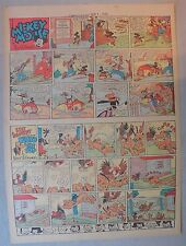 Mickey Mouse Sunday Page by Walt Disney from 9/1/1940 Tabloid Page Size