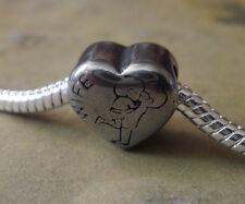 Edelstahl Bead Element Herz Wife Antiksilber Silber für Armband 1440