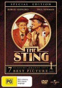 THE STING DVD 1973 NEW Region 4 Paul Newman, Robert Redford, Robert Shaw CON MEN