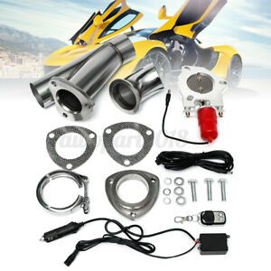 2.5inch Electric Exhaust Valve Catback Downpipe System Kit Remote Cutout