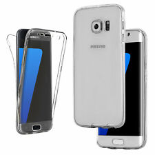 Shockproof 360 Slim Clear Gel Case For Samsung Galaxy Phone S9 S8+ S7, S5, S6,J5